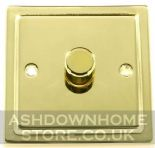 Trimline Plate Polished Brass Dimmer Switches